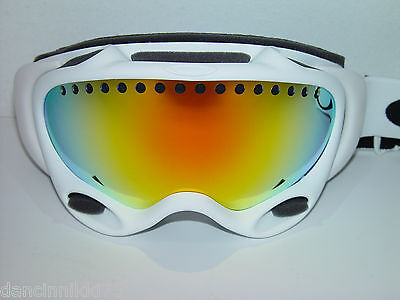CLEARANCE!!! 2014 OAKLEY A-FRAME Snow Goggles... Matte White w/FIRE... CLEARANCE