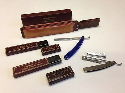 Lot of Various Vintage Mens Straight Razor Items Wecks Hair Shaper Thiers Issard