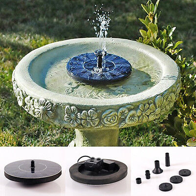 New Solar Powered Water Floating Pump Fountain Garden Pool Watering Kit Set