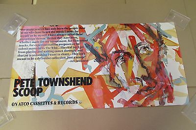 PETE TOWNSHEND scoop (90063) STORE DISPLAY PROMO ONLY ROCK POSTER The Who
