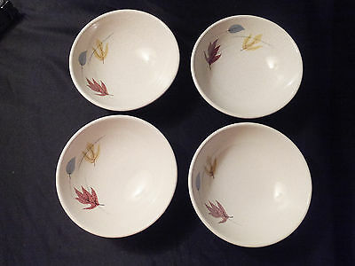 Franciscan Autumn Leaves Pattern Berry/Fruit/Dessert Bowls~Set of 4