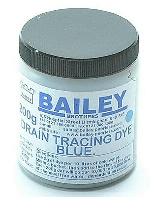 Bailey 1992 Teinture de traçage Bleu - The Dye is soluble in water and NEUF