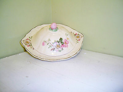 Taylor Smith Taylor China  Wild Rose  Butter Dish