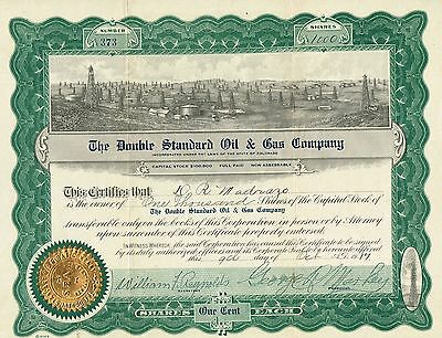 USA THE DOUBLE STANDARD OIL & GAS COMPANY stock certificate COLORADO