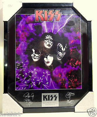KISS ALIVE ART SIGNED FRAMED POSTER SIGN PLAQUE LITHO LITHOGRAPH ALBUM LP RECORD