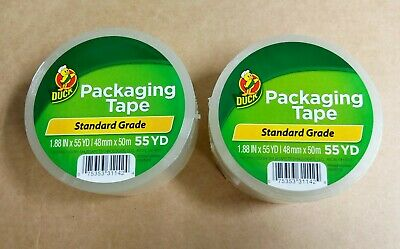 "2 Rolls Clear Duck Packaging Tape 1.88""x 50 yds. Packing Tape ShippingTape"