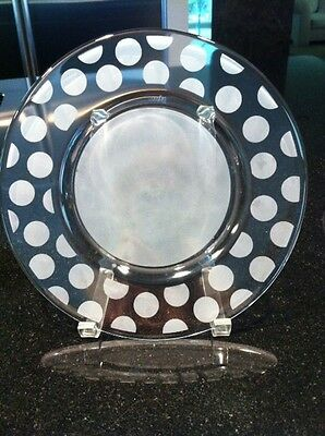 """ORREFORS CRYSTAL CLARA """"LARGE DOT LUNCHEON PLATE, RARE & OUTSTANDING!"""