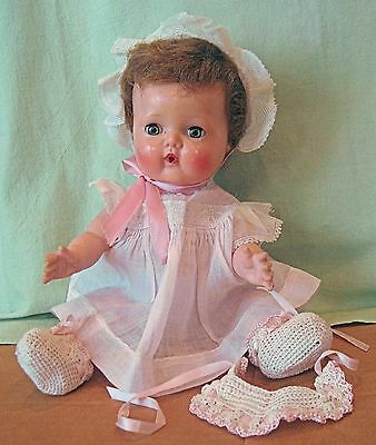 "VINTAGE 1961 AMERICAN CHARACTER TINY TEARS 13"" DOLL ORIGINAL CLOTHES"