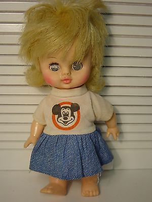 """1970s Mickey Mouse Club Doll Vintage 8"""" Horsman Walt Disney Mouseketeer Outfit"""