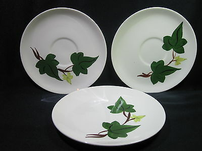 Blue Ridge Baltic Ivy Two Saucers and One Dessert Plate