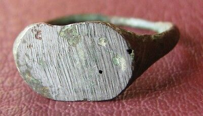 Authentic Ancient Artifact > Unidentified Bronze RING SZ: 8 US 18mm 11741 • CAD $11.38