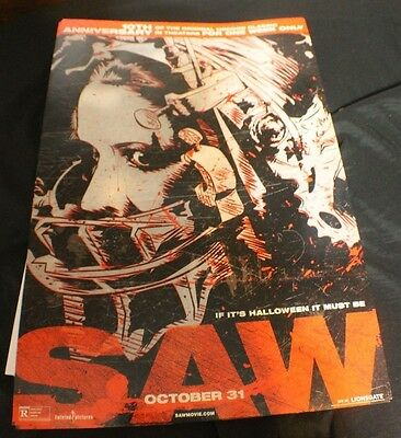 SAW 10th Anniversary Full - Color Poster Measures 11' x 17