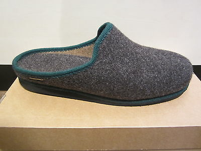 Frankenwald Men's Slippers House Shoes Fur Lining, Brown 180 NEW