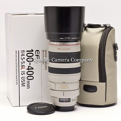 Canon EF 100-400mm f/4.5-5.6L IS USM Zoom Lens - BOXED - EXCELLENT CONDITION