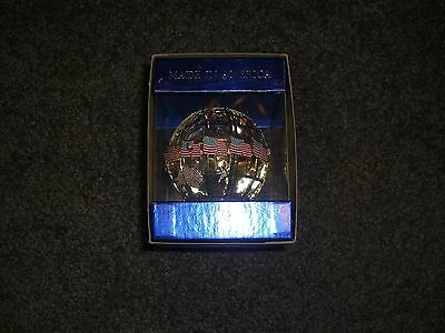 Wallace Silversmiths God Bless America Christmas Holiday Ornament New in the box