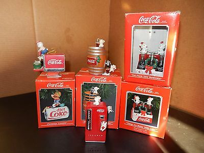 Coca Cola Ornaments X6