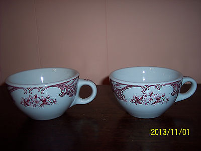 SHENANGO HEAVY MID CENTURY CHINA CUPS X 2