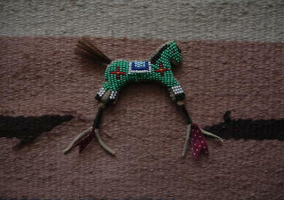 Little BEADED Medicine HORSE - beaded fetish - (Beadwork/Quillwork)