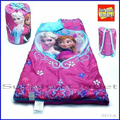 Disney Frozen  Kids Sleeping Bag Elsa ANNA  Slumber Bag With  Carry Backpack