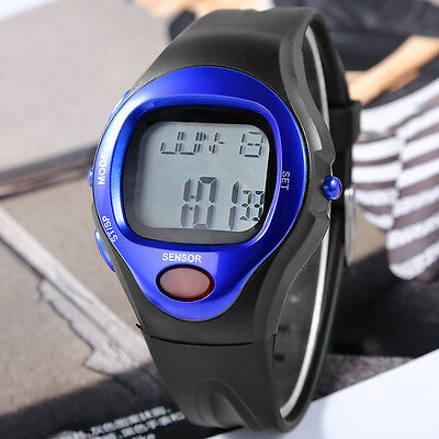 Burn Counter Pulse Heart Rate Monitor Sport Calorie Leatheroid Band Wrist Watch