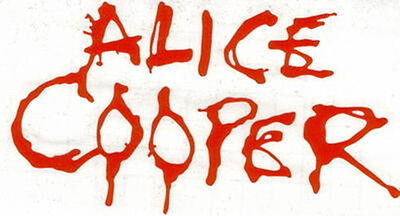 Alice Cooper Peel And Rub On Red Vinyl Decal !