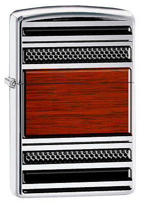 Zippo High Polish Chrome Pattern Pipe Windproof Lighter 28676 New