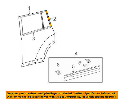 TOYOTA OEM 08-13 Highlander Exterior-Rear-Black Out Tape Right 759250E020