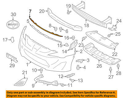 HOOD TO FRONT END PANEL SU00301534 Genuine Toyota GT86 SEAL