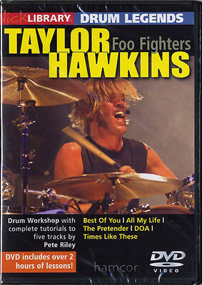 Taylor Hawkins Foo Fighters Drum Legends Learn How to Play Tuition DVD SEALED