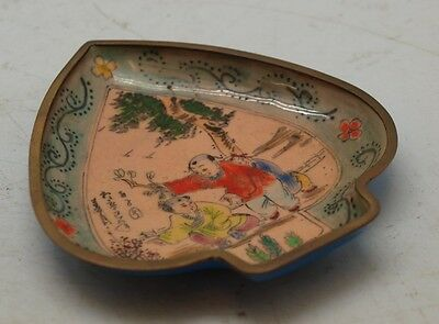 Chinese Copper Plate - Hand Painted & Enamelled - Oriental Children