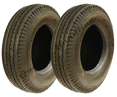 2 - 5.00-10 trailer tyres 8 ply high speed road legal 500 kgs 500x10 84N 5.00x10