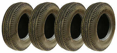 4 - 5.00-10 trailer tyres 8 ply high speed road legal 500 kgs 500x10 84N 5.00x10