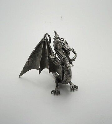 RAL PARTHA Fine Pewter Winged Dragon Rearing Figurine PP 306