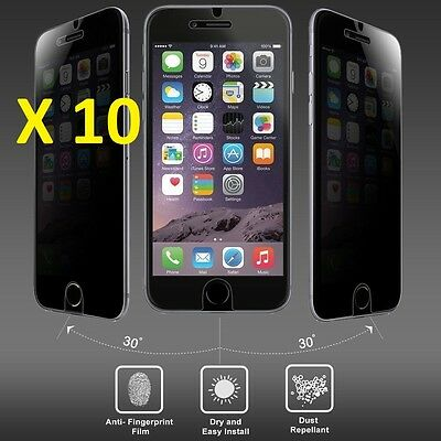 LOTS OF 10 Privacy Tempered Glass Screen Protector FOR IPHONE 6 PLUS /6S PLUS
