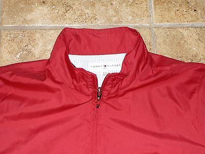 Tommy Hilfiger Golf Jacket Womens Large L Ladies Coat Red