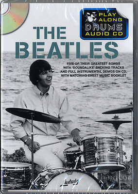 The Beatles Play Along Drums Audio CD Drumming Backing Tracks & Music Booklet