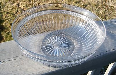 OLD ANTIQUE VICTORIAN EAPG 1800's GLASS SERVING BOWL