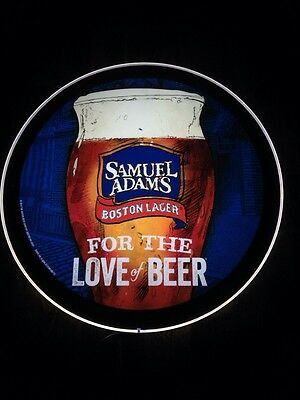 """Samuel Sam Adams LED Sign - New - Made In The USA Super Thin LED Sign - 18"""""""