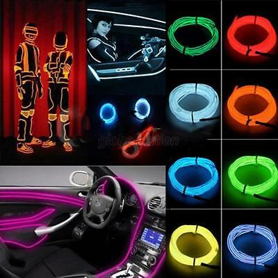 Party Flexible Neon Light Glow EL Wire Rope Cable Strip LED + 12V Conctoller G80
