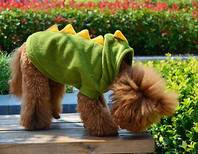 Pet Dog Cute Dinosaur Jumper Clothes Sweater Appreal Puppy Knit Apparel Green S