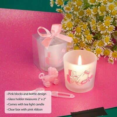 30 Saver Collection Baby Girl Themed Candle Baby Shower Favors