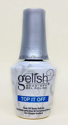 Harmony Gelish Soak Off Gel -TOP IT OFF Sealer Nail Gel .5oz/15ml