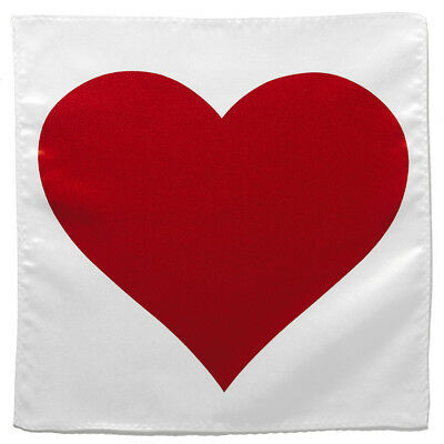 Red Heart Shape Handkerchief Pocket Square Hanky Men's Handkerchiefs