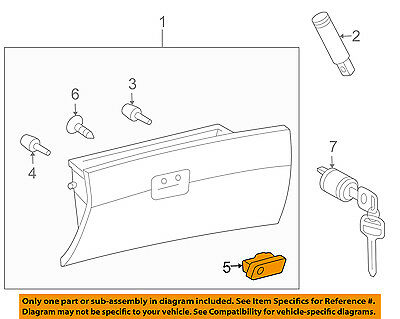 TOYOTA OEM 04-10 Sienna-Glove Compartment Box Lock 55506AE010E0