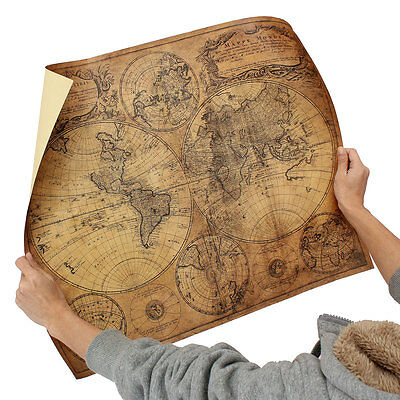 Large Vintage 1746 Old World Globe Map Retro Paper Poster Wall Decor 24 x 20Inch