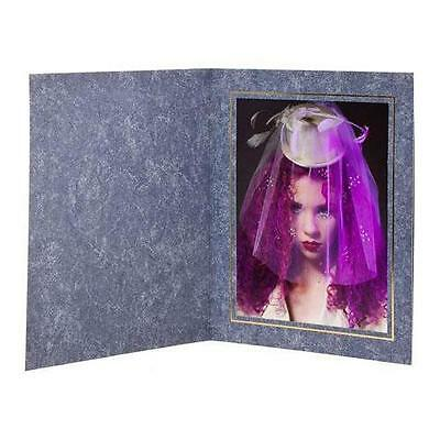"""TAP Picture Folder Frame Capri, Marble Blue with Gold Foil for 4x6"""" Photo, 25 Pk"""