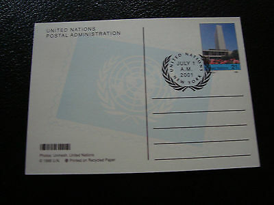 NATIONS-UNIES (new-york) - carte entier 1/7/2001 (cy51) united nations
