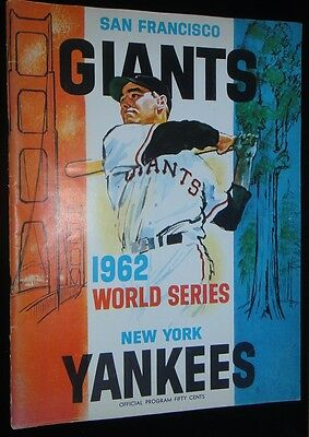 1962 WORLD SERIES GAME 1 PROGRAM NEW YORK YANKEES WHITEY FORD 10TH WS WIN RECORD