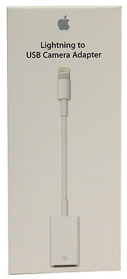 Genuine Apple 8-Pin to USB Camera Adapter Cable for iPad mini 2/3 iPad Air 2