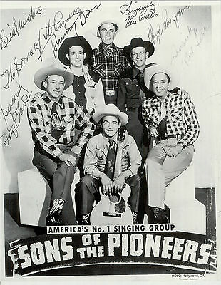 Sons of The Pioneers 1950 Autographed  11x14 Reprint